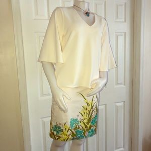 Ann Taylor White Bell Sleeve Shirt M